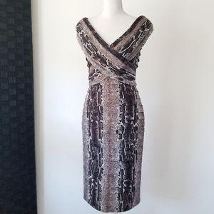 TADASHI Collection Shutter Pleat Bandage Dress S